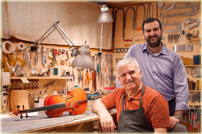 Hratch and Artak Armenious Master Violin, Viola & Cello Makers for over 50 years.