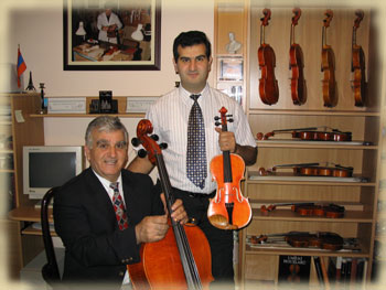 Hratch and Artak Armenious Master Violin, Viola & Cello Makers for over 35 years.